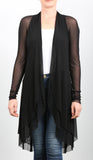 MAXIMA Sheer Mid Length Duster Black