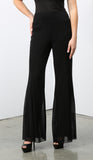 MAXIMA Black Mesh Lined Flared Pants