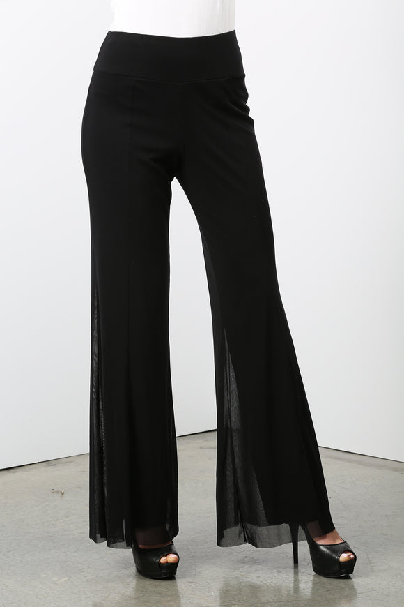 MAXIMA Mesh Lined Flared Pants BLACK
