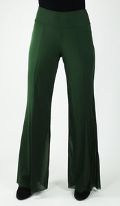 MAXIMA Mesh Lined Flared Pants OLIVE