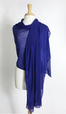MAXIMA Long And Wide Sheer Shawl Stole Wrap Cover Royal Blue