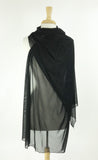 MAXIMA Long And Wide Sheer Shawl Stole Wrap Cover Black