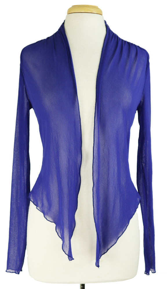 MAXIMA Sheer Long Sleeve Jacket Royal Blue