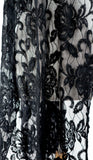 NURIELLE Embroidered Tulle Shawl Black