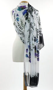 PANSY Long and Wide Sheer Shawl