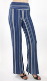 ROMANIA Striped Flared Pants
