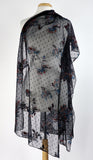 SANTANA Long and Wide Sheer Embroidered Shawl