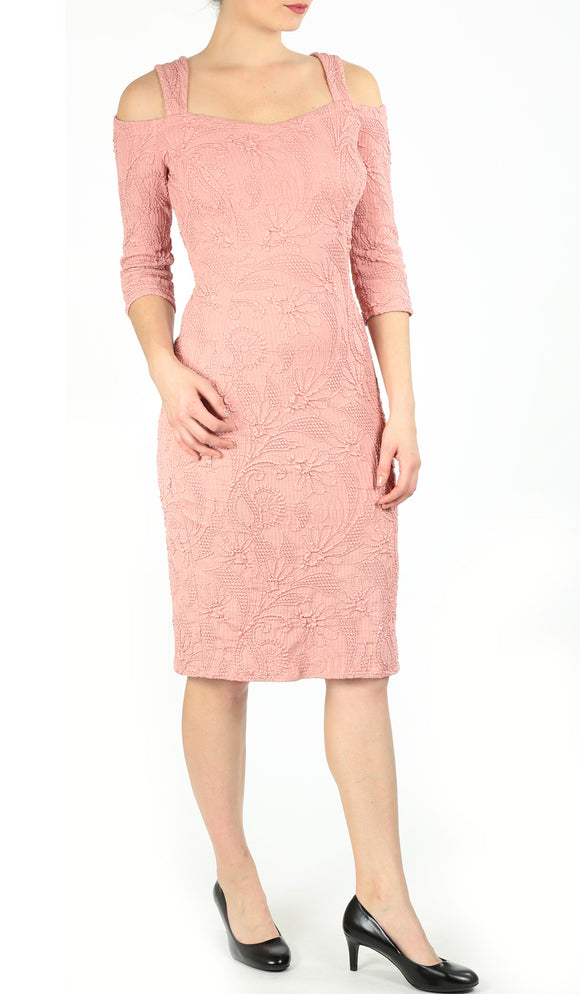 TORINO Cold Shoulder Dress Coral