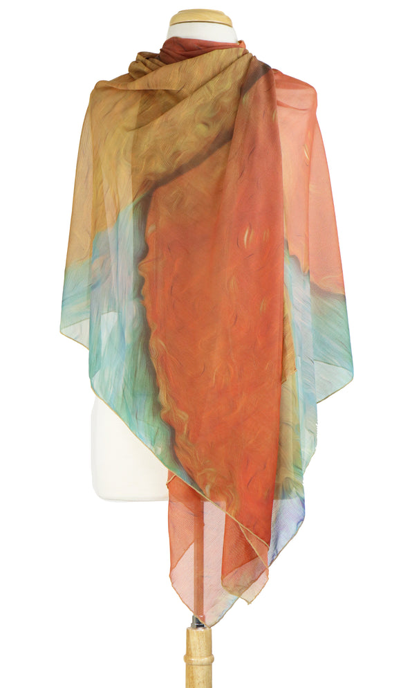 TSUNAMI Long and Wide Sheer Shawl