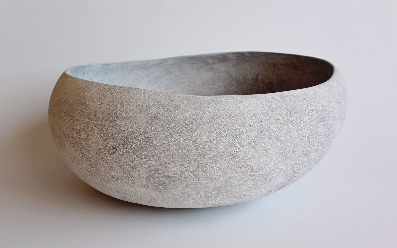 Yasha Butler Ceramic Lithic Vessel White