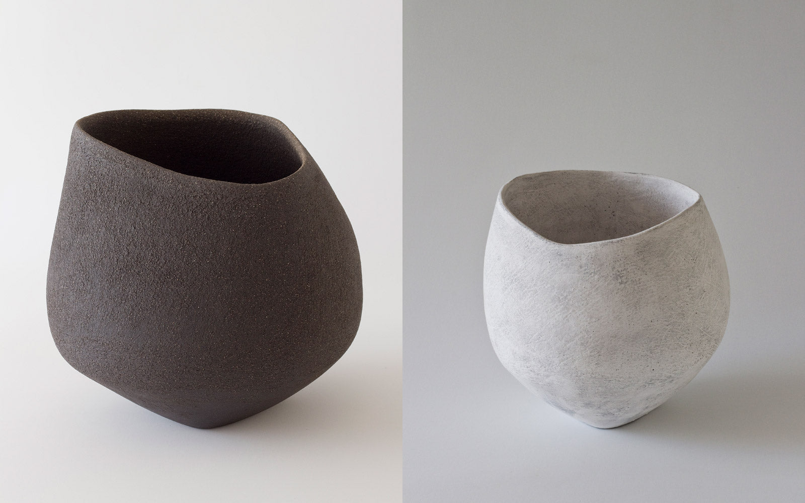 Yasha Butler Ceramic Lithic Vessel White Dark
