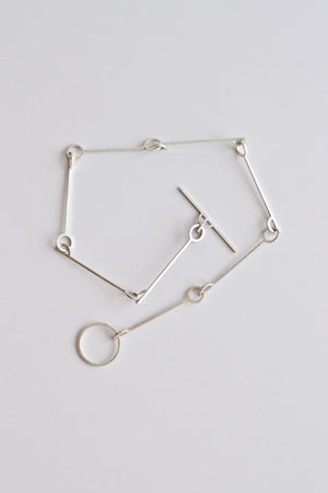 Yasha Butler Jewelry Sterling Silver Amelia Necklace Simple Minimal Chain