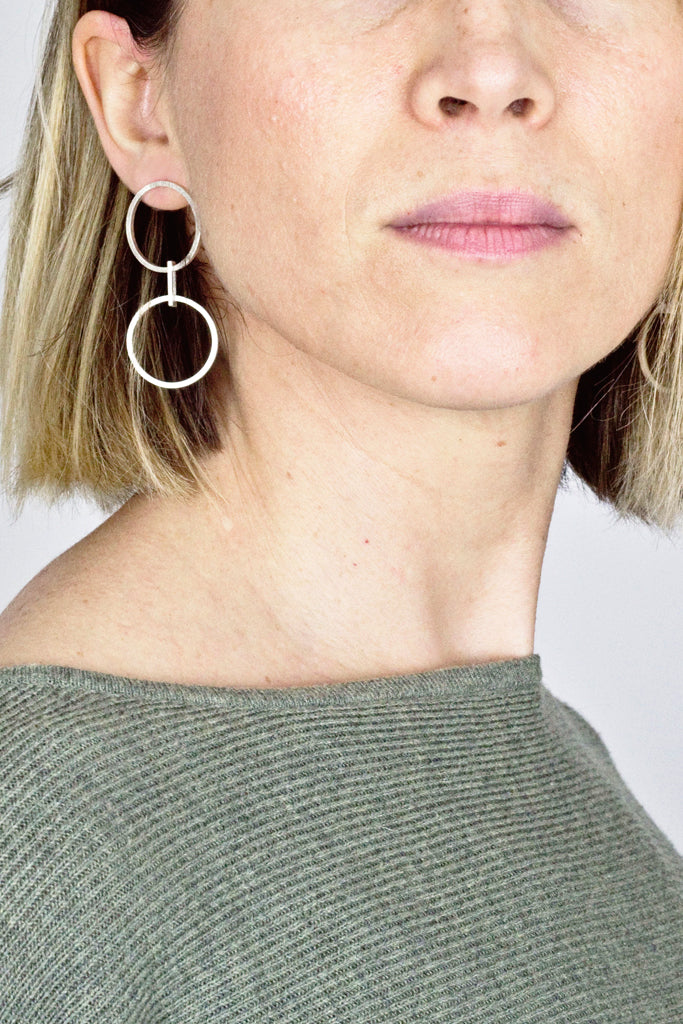 Yasha Butler Jewelry Jewellery Lola Silver Earrings Simple Minima