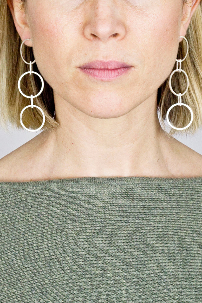 Yasha Butler Jewelry Jewellery Lola Long Silver Statement Earrings