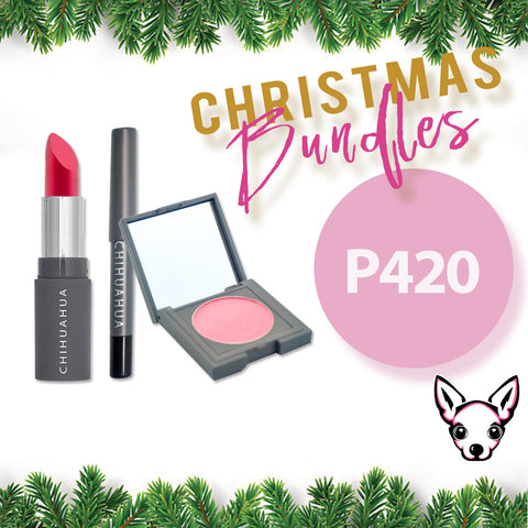 Bundle 3: Set A - Lipstick + Blush + Eyeliner Pencil