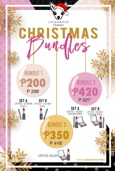 Bundle 3: Set B - Lipstick + Blush + Eyebrow Pencil