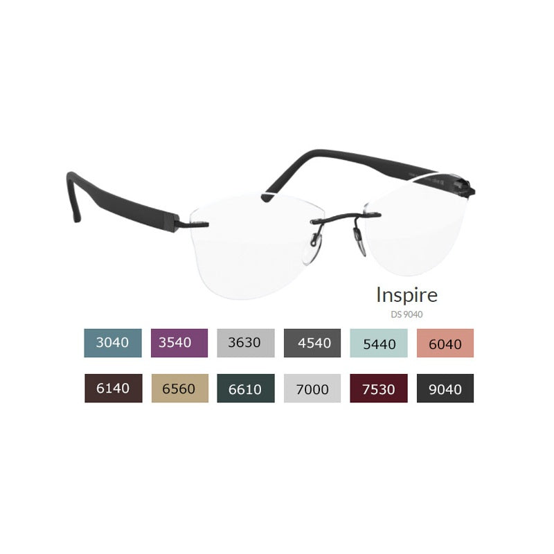 Brille Silhouette, Modell: InspireDS Farbe: 9040