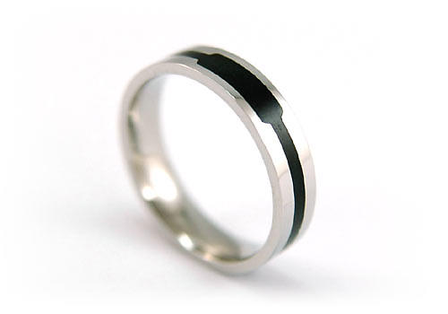 Gothic Two Tone Stylish Stainless Steel Band Ring MR028