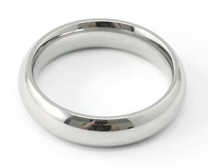Polish Round Silver Tone Stainless Steel Ring MR052