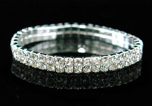 2 Row Wedding Fashion Crystal Rhinestone Bracelet XB902