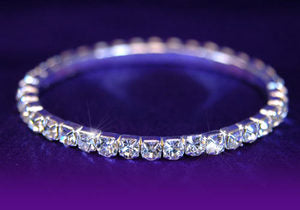 Single Row Bridal Fashion Crystal Rhinestone Bracelet B901
