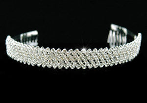 Bridal 7 Row Clear Crystal Rhinestone Tiara XT1181