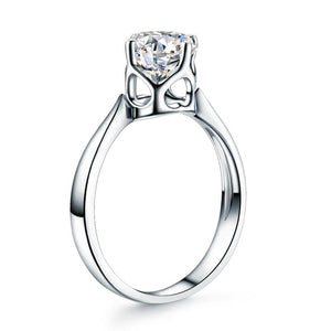 14K White Gold 1 Carat Forever One Moissanite Diamond Wedding Engagement Solitaire Ring