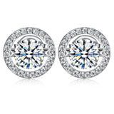 Dancing Stone Stud Earrings 925 Sterling Silver XFE8129