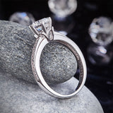6 Claws 925 Sterling Silver Wedding Promise Engagement Ring 1.25 Ct Created Diamond Jewelry XFR8257