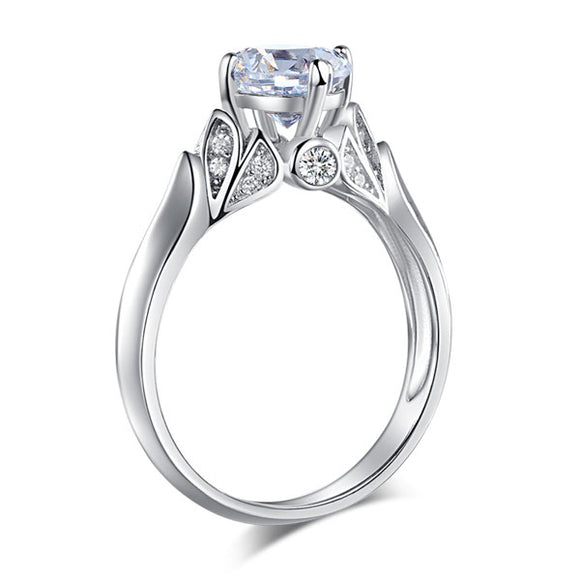 925 Sterling Silver Wedding Promise Anniversary Ring 1.25 Ct Created Diamond Jewelry XFR8259