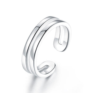 Kids Girls Solid 925 Sterling Silver Ring Band Children Jewelry Adjustable XFR8295