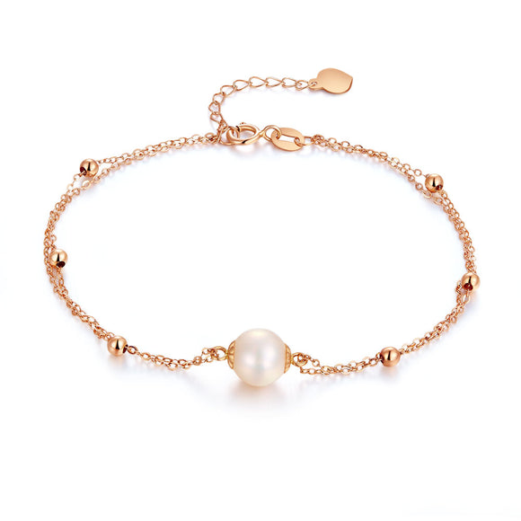 18K/ 750 Rose Gold Pearl Bracelet KB7001