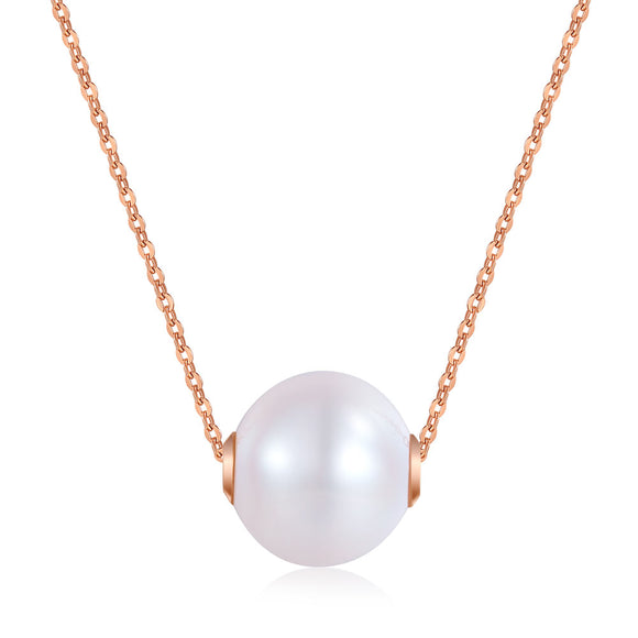 18K/ 750 Rose Gold Pearls Necklace KN7072