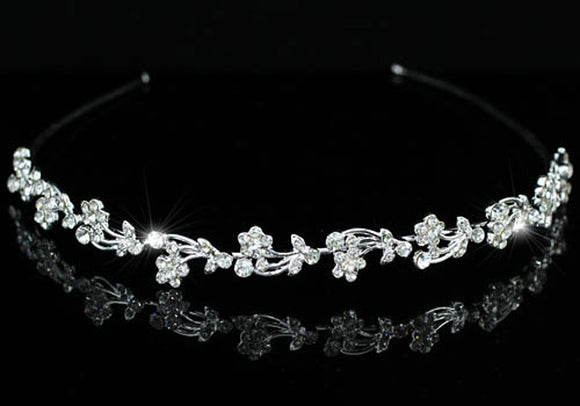 Bridal Wedding Flowers Crystal Headband Tiara XT1081