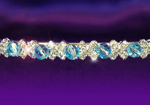 Bridal Wedding Blue Crystal Headband Tiara XT1088