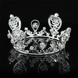 Vintage Style Heart Newborn Baby Mini Crown Tiara Photo Prop Crystal Full Circle Round XT1124