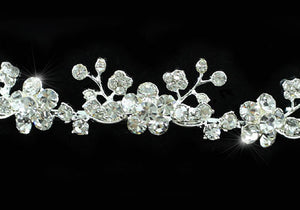 Bridal Wedding Crystal Flowers Headband Tiara XT1132
