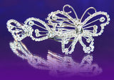 Bridal Wedding Prom Butterfly Crystal Hair Comb XT1177