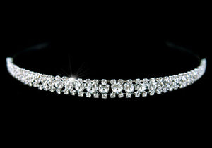 Bridal 3 Row Clear Crystal Headband Tiara XT1207