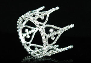 Bridal Wedding Flower Girl / Baby Crystal Rhinestone Full Circle Round Mini Tiara Crown XT1245