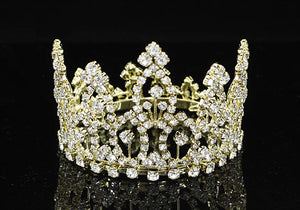 Newborn Baby Mini Crown Round Full Circle Rhinestone Mini Tiara XT1276