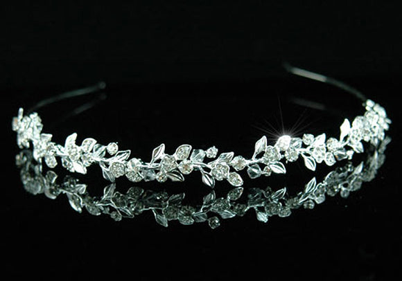 Wedding Flower Crystal Headband Tiara XT1314