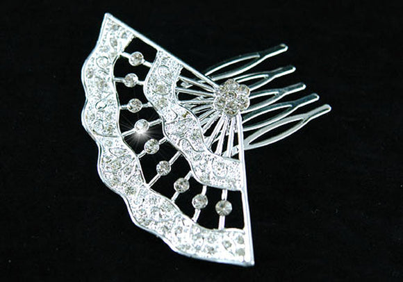 Bridal Wedding Prom Crystal Side / Back Hair Comb XT1319