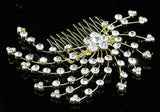 Wedding Bridal Crystal Gold Hair Comb XT1345