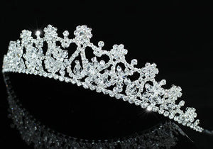 Bridal Wedding Sparkling High Quality Clear Crystal Tiara XT1381