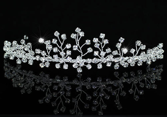 Bridal Wedding Stylish Handmade Crystal Tiara XT1401