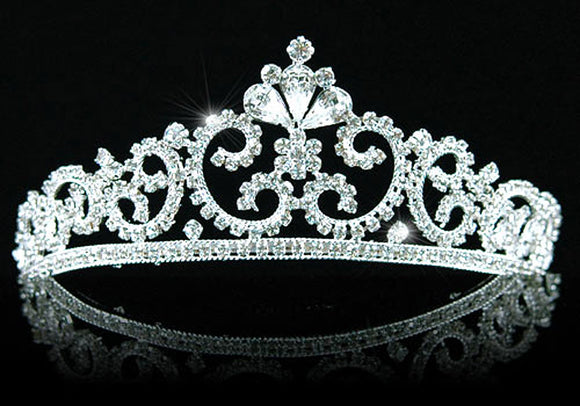 Bridal Vintage Style Queen Clear Crystal Tiara XT1403