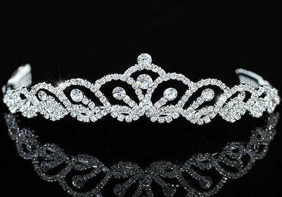 Bridal Wedding Stylish Crystal Tiara XT1407