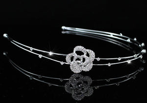 Bridal Bride / Flower Girl Rose Headband Tiara XT1447