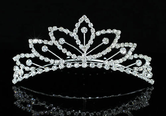Bridal Wedding Sparkling Crystal Flower Girl Mini Tiara Comb XT1479
